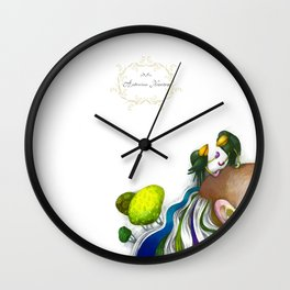 "Illustration for the picture book ""Nonsense Poems for Kids"" 1 Wall Clock"