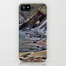 Hartland Quay Cliff Face Devon iPhone Case
