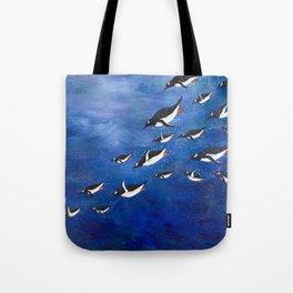 Flock of Penguins Tote Bag