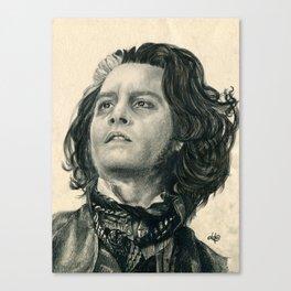 Sweeney Todd ~ Johnny Depp Traditional Portrait Print Canvas Print