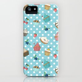 Donuts and muffins iPhone Case