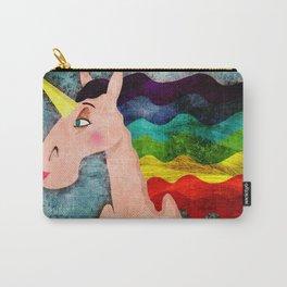 Rainbow Hair Unicorn Carry-All Pouch