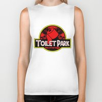toilet Biker Tanks featuring Toilet Park by Toilet Club