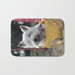 Westie West Highland Terrier in swing Bath Mat