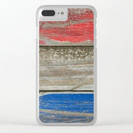 Red White and Blue Clear iPhone Case