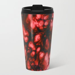 Explosion in red and blue Travel Mug