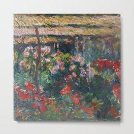 """Claude Monet """"Peony Garden"""" Metal Print"""
