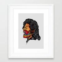 scream Framed Art Prints featuring Scream by Vasco Vicente