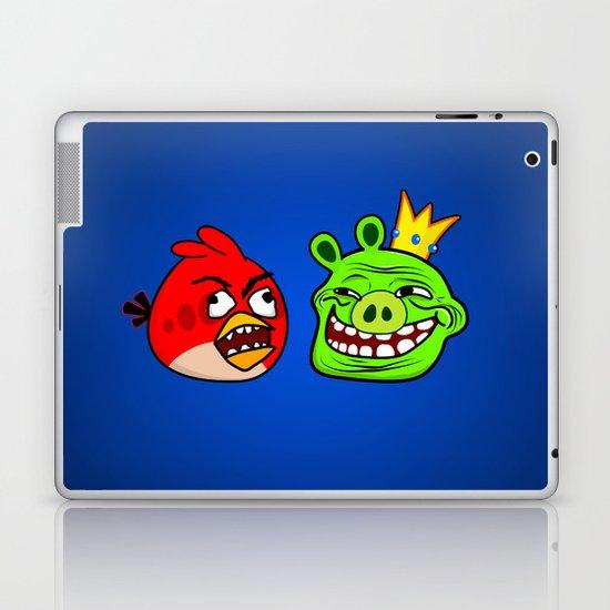 Trollface Pig and Rage Guy Angry Bird Laptop & iPad Skin