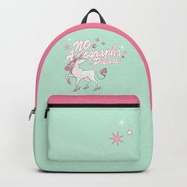 Unicorn says: No autographs please Backpack
