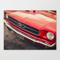 mustang Canvas Prints featuring Mustang  by Grafiko