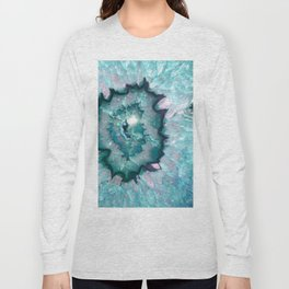 Teal Agate Long Sleeve T-shirt