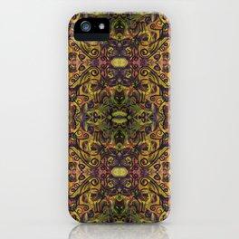Fall Cat Pattern iPhone Case