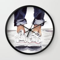 converse Wall Clocks featuring Converse by Bridget Davidson