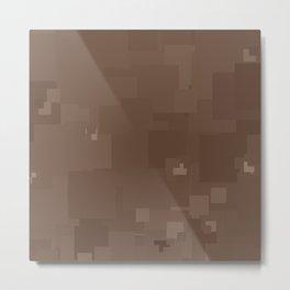Carafe Square Pixel Color Accent Metal Print