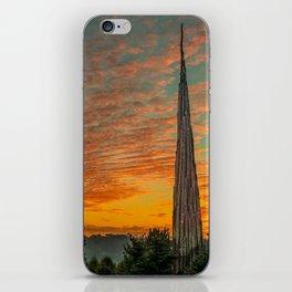 Nature Sculpture & Sunset iPhone Skin