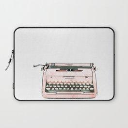 Simple Modern Retro Pop Art Pink Typewriter Print Laptop Sleeve