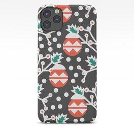 Mistletoe and Christmas ornament iPhone Case