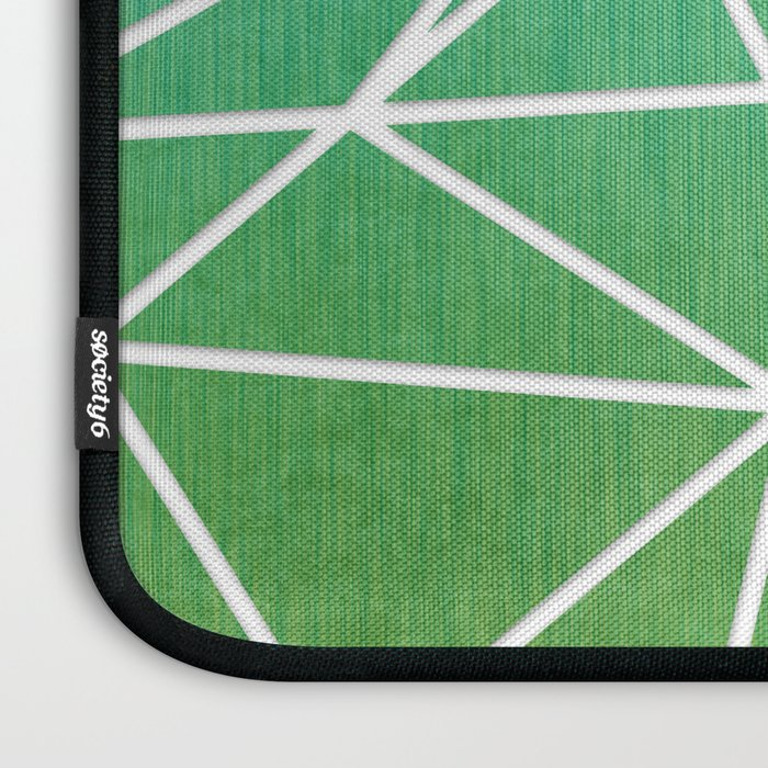 Abstract geometric | green & turquoise Laptop Sleeve