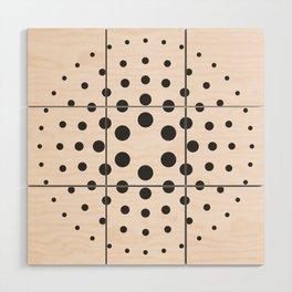 Mid-Century Modern Art - Bubblegum Spiral Dots Wood Wall Art