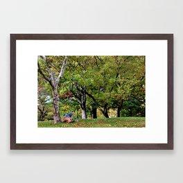 Natural Reading Nook Framed Art Print