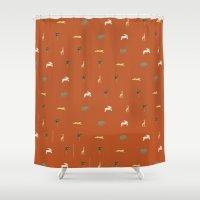safari Shower Curtains featuring Safari by FunnyFaceArt