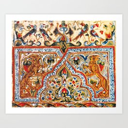 old motives / colorful / Armenian  Art Print