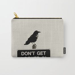 Don't Lock Me In - Graphic Birds Series, Plain - Modern Home Decor Carry-All Pouch