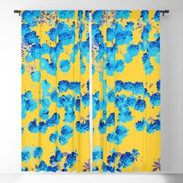 Bananans & Blue #abstract #nature Blackout Curtain