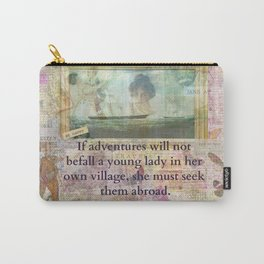 Jane Austen humorous Travel Adventure Quote Carry-All Pouch