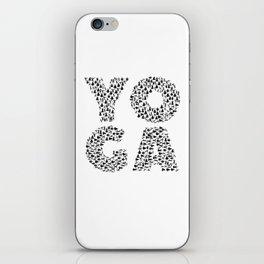Yoga Shirt Spells Yoga Gift in Yogi Positions iPhone Skin