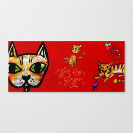 Get the ginger cat!! Canvas Print