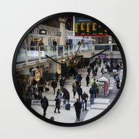 liverpool Wall Clocks featuring Liverpool Street Station London by David Pyatt