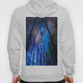 Black Trees Dark Blue Space Hoody