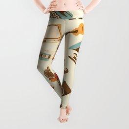 Vintage Retro Pattern ArtWork Leggings