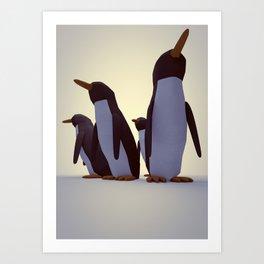 Pack of Penguins Art Print