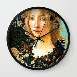 """Sandro Botticelli """"Spring"""" Flora (2) Wall Clock"""
