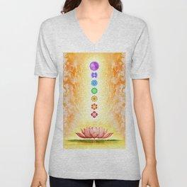 Sacred Lotus - The Seven Chakras Unisex V-Neck