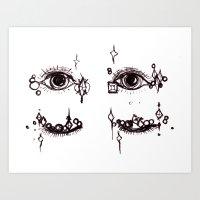 Sleepy Eye Jewels Art Print