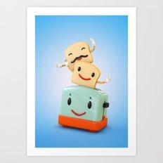Happy Toaster Art Print
