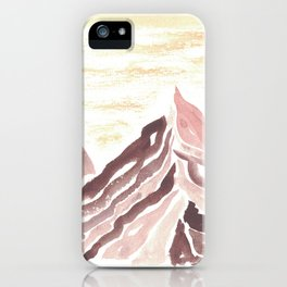 Abstract Mountain Study 3 Yellow Ochre & Violet Hematite iPhone Case