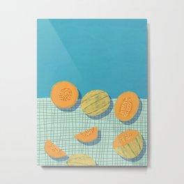 Rockmelon Cantaloupe Metal Print