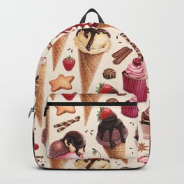 Ice Cream watercolor Backpack