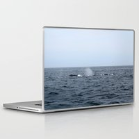 whales Laptop & iPad Skins featuring Whales by Kim Hawley