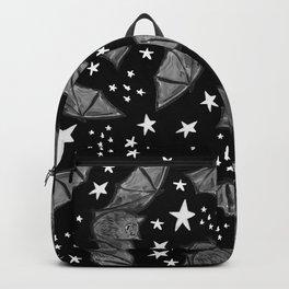 Creepy Cute Black and White Bat Pattern Backpack