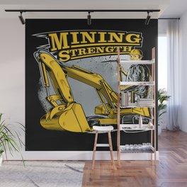 Excavator Mining Wall Mural