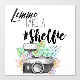 Lemme Take a #Shelfie Canvas Print