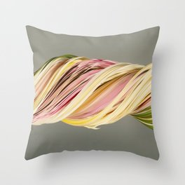 Old bouquet (slit scan) Throw Pillow