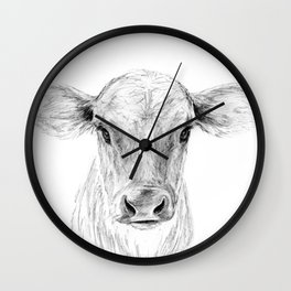 Moo ::  A Young Jersey Cow Wall Clock