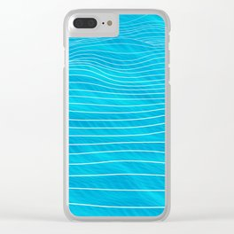 ocean bed Clear iPhone Case
